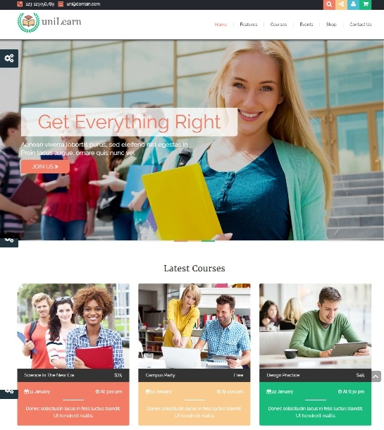 UniLearn - Education and Courses Theme