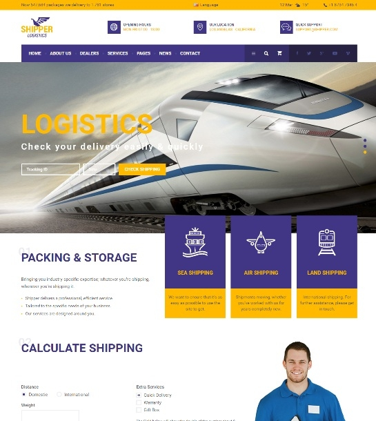Shipper Logistic - Transportation  Theme