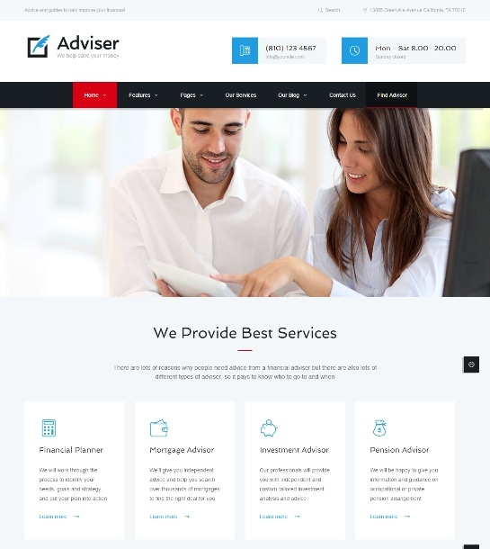 Adviser | Finance & Accounting  Theme