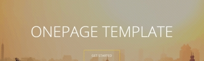 Great One Page Templates for Your Website