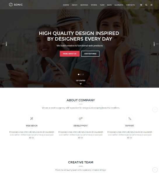 Sonic - Responsive Multi-Purpose  Theme